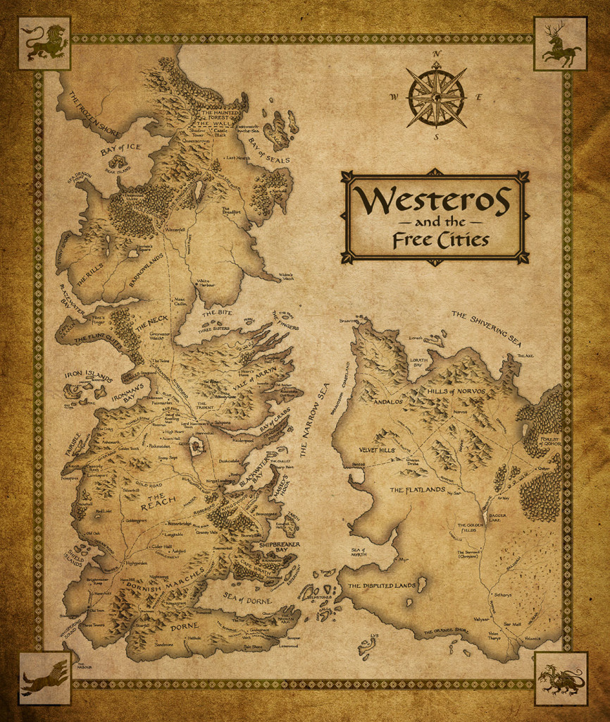 Mapa Game of Thrones